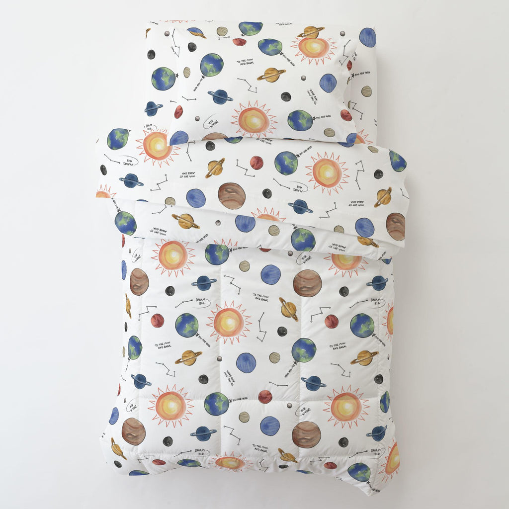 Product image for Solar System Toddler Pillow Case with Pillow Insert