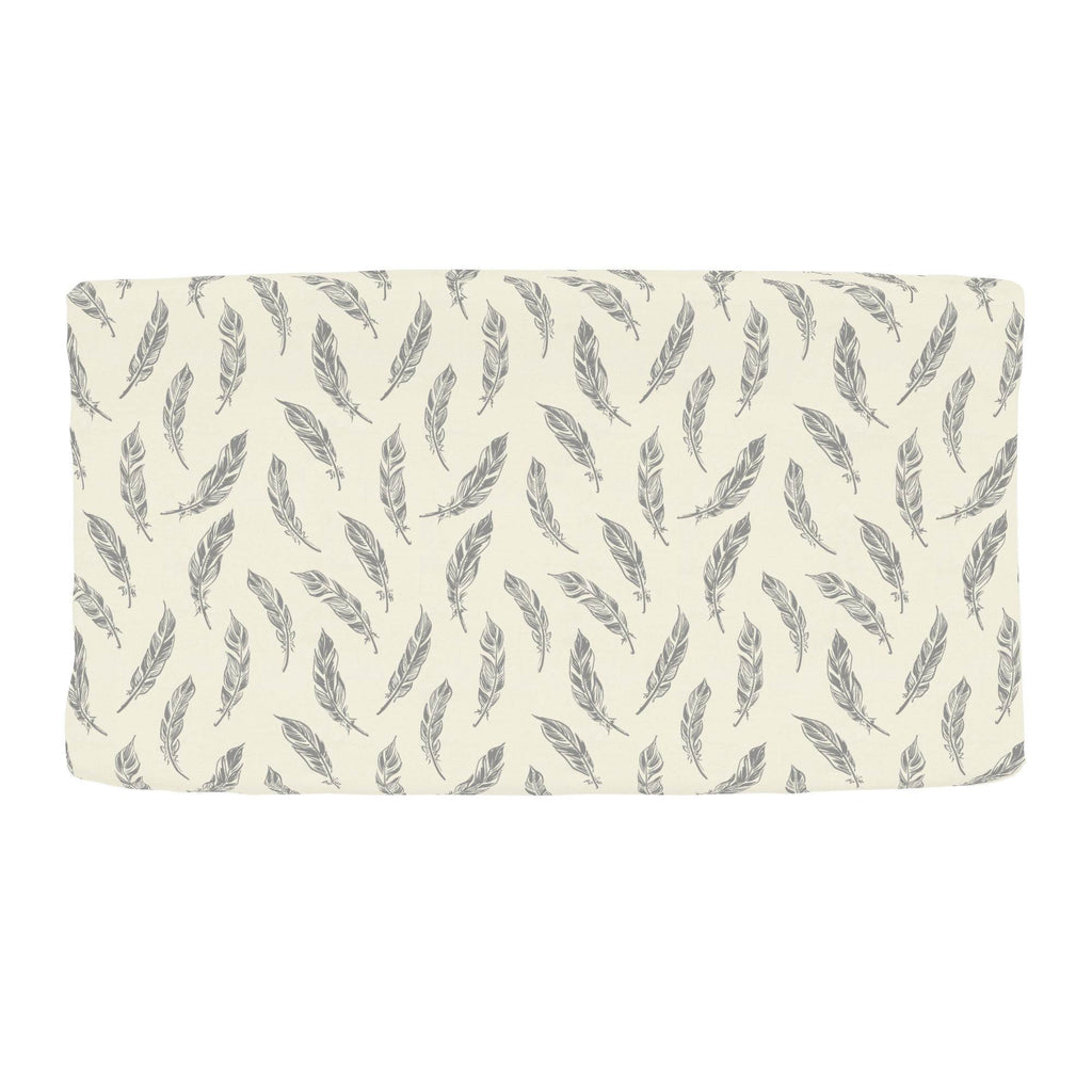 Product image for Natural Gray Feathers Changing Pad Cover