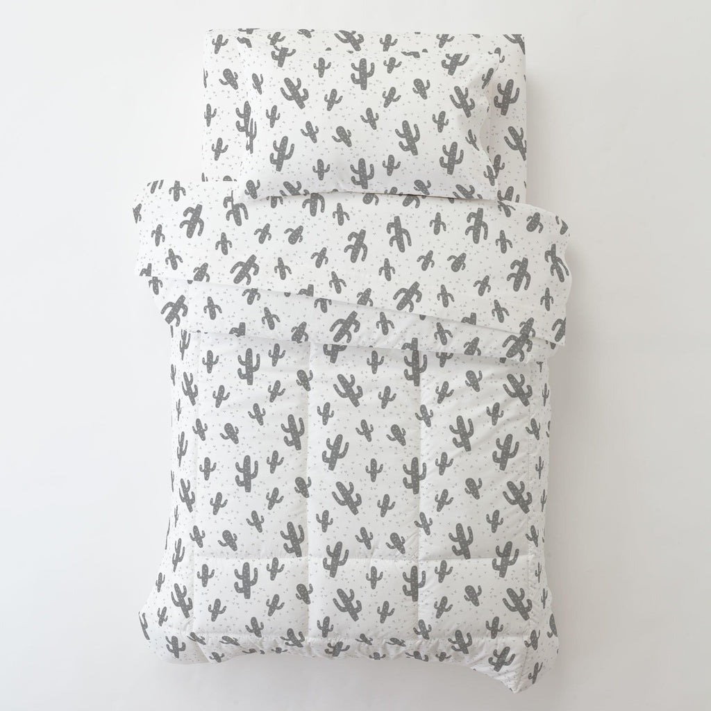Product image for Cloud Gray Cactus Toddler Comforter