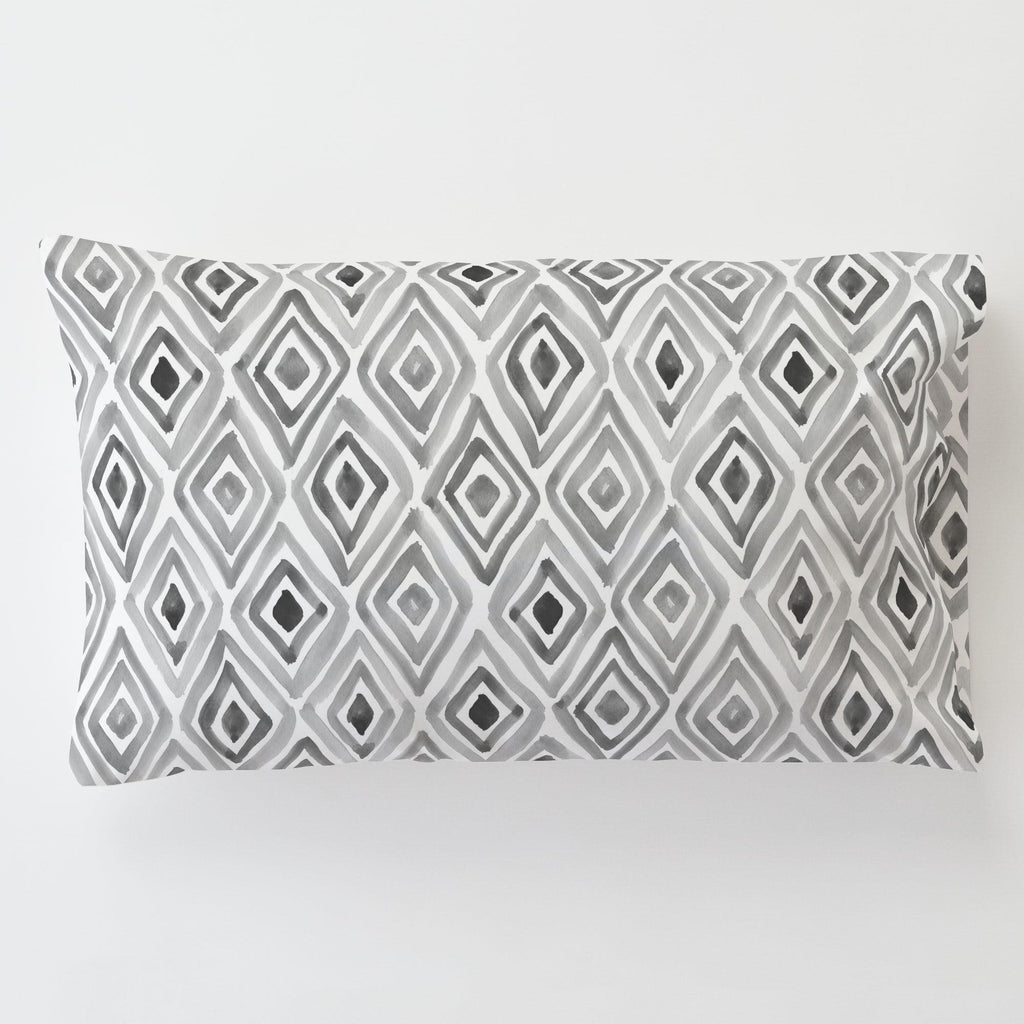 Product image for Gray Painted Diamond Toddler Pillow Case