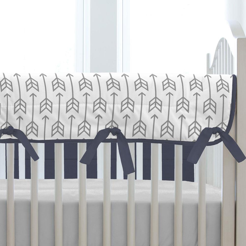 Product image for Cloud Gray Deer Crib Rail Cover