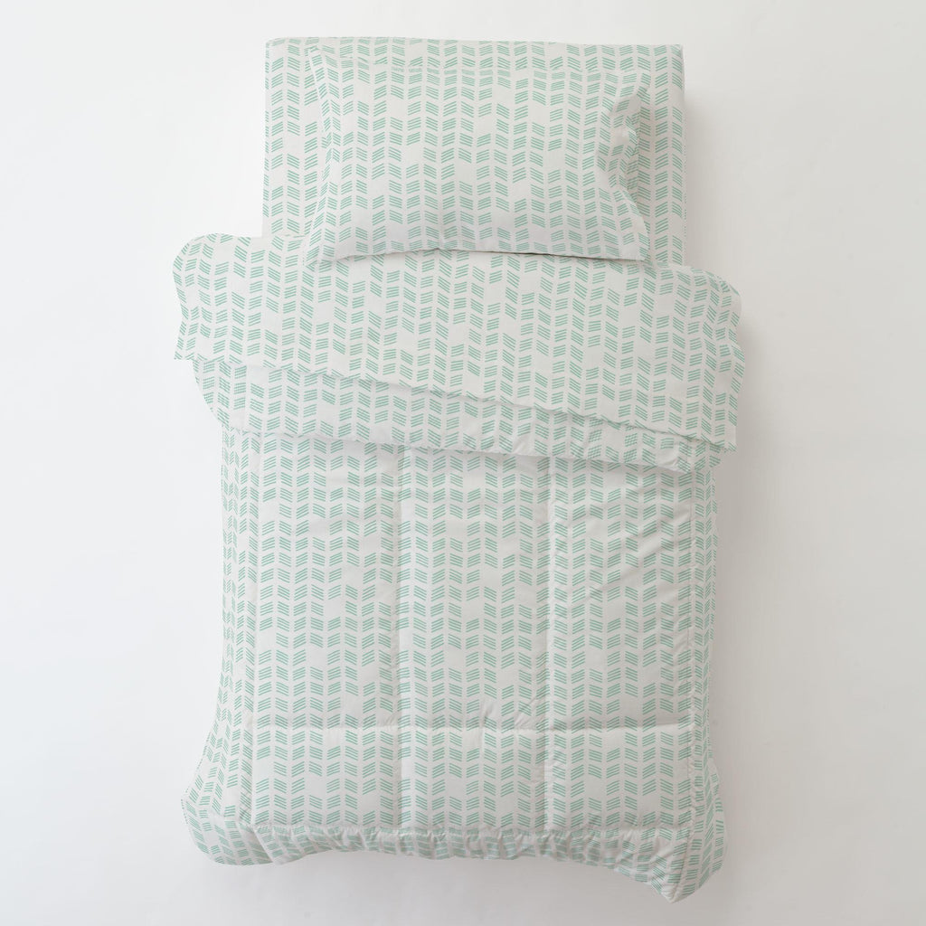 Product image for Mint Tribal Herringbone Toddler Comforter
