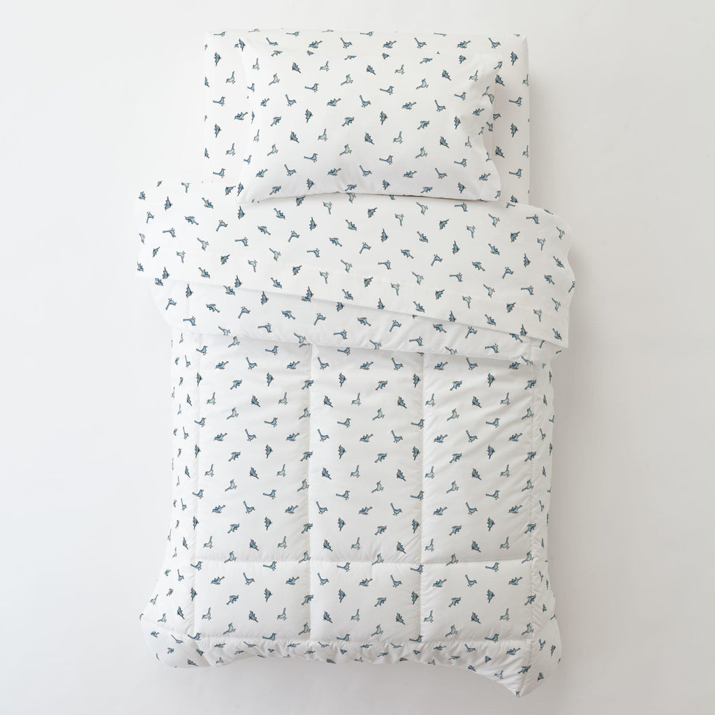 Product image for Blue Birds Toddler Pillow Case with Pillow Insert