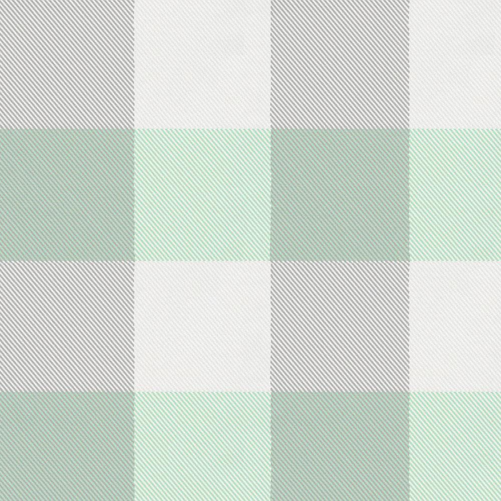 Product image for Mint and Gray Buffalo Check Drape Panel