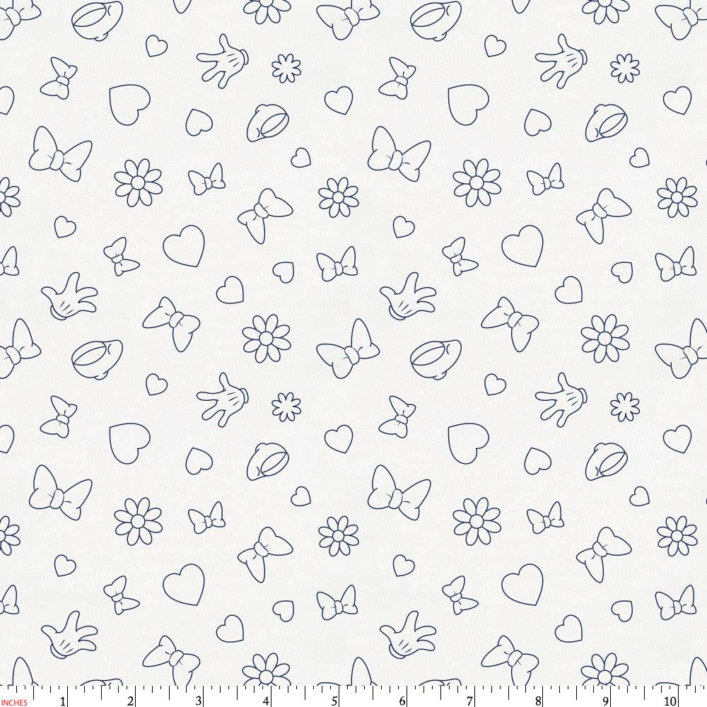 Product image for Disney© Navy Minnie Icons Fabric
