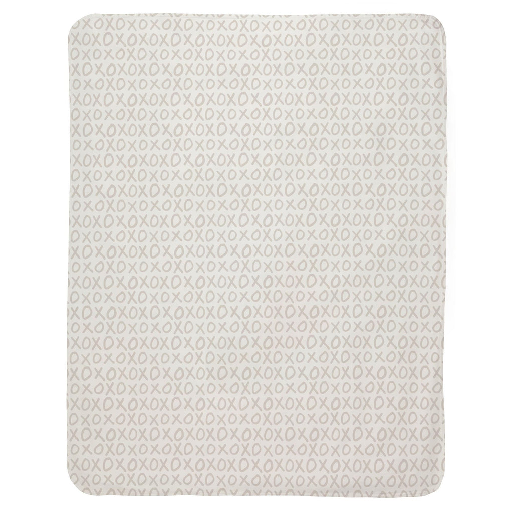 Product image for Taupe XO Baby Blanket