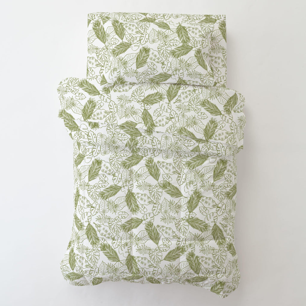 Product image for Sage Palm Leaves Toddler Comforter