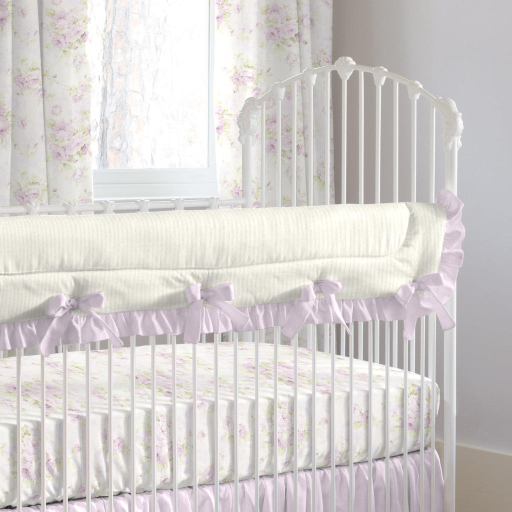 Product image for Lavender Floral Crib Rail Cover