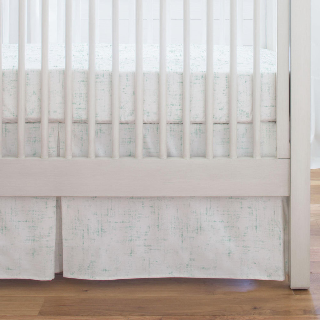 Product image for Mint Distressed Crib Skirt Single-Pleat