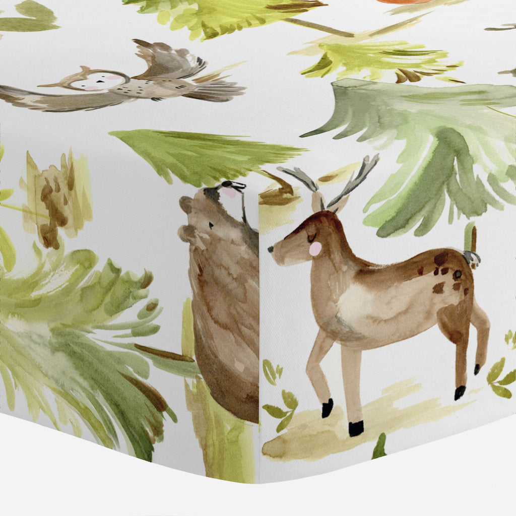 Product image for Painted Forest Mini Crib Sheet