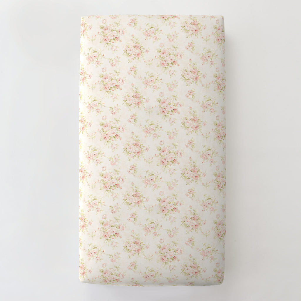 Product image for Pink Floral Toddler Sheet Bottom Fitted