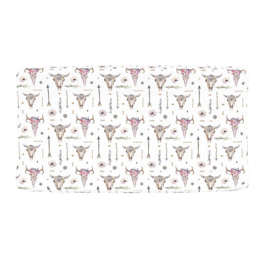 Product image for Pink Boho Changing Pad Cover