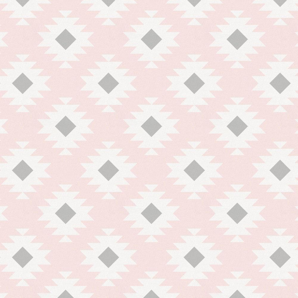 Product image for Blush Pink and Gray Aztec Drape Panel