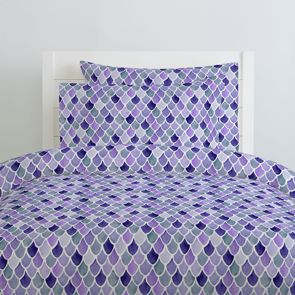 Product image for Lilac Watercolor Scales Pillow Case