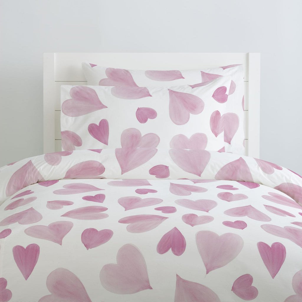 Product image for Pink Watercolor Hearts Pillow Case