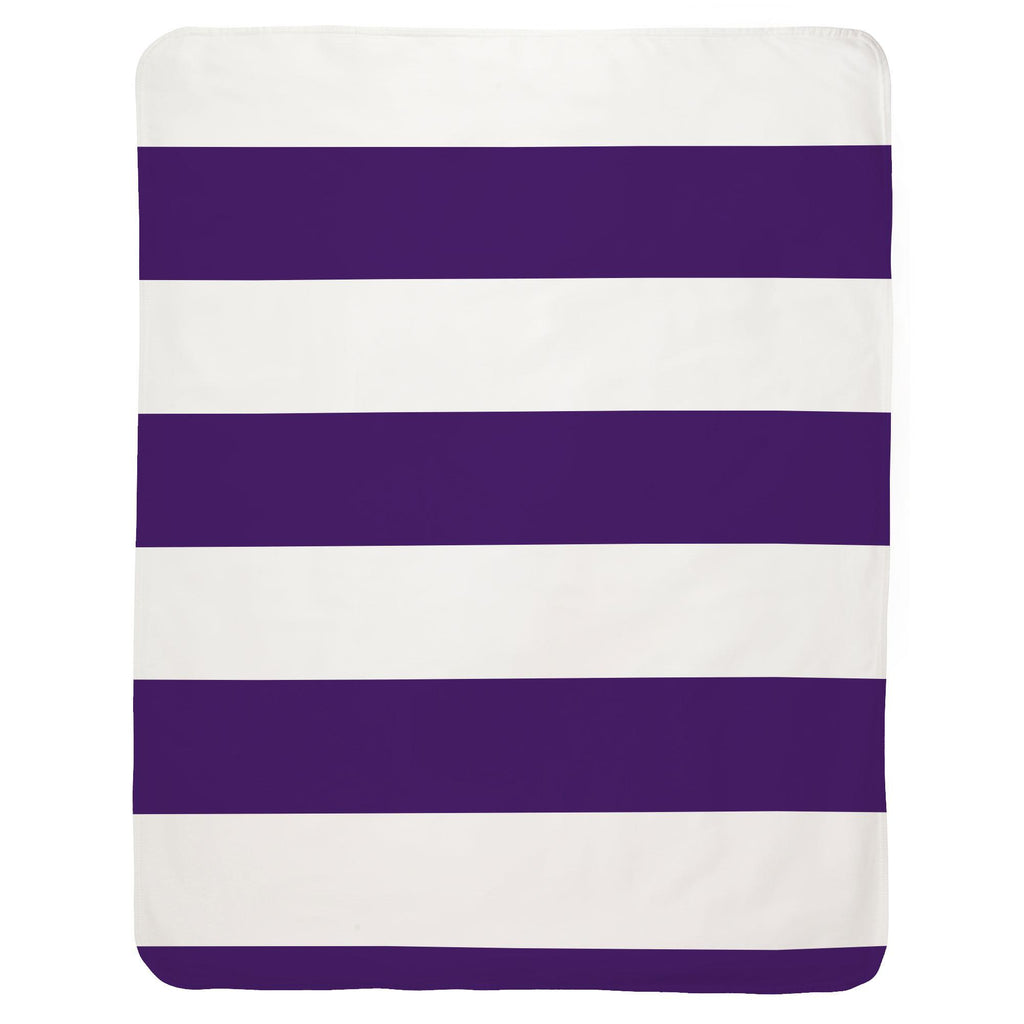 Product image for Purple Horizontal Stripe Baby Blanket