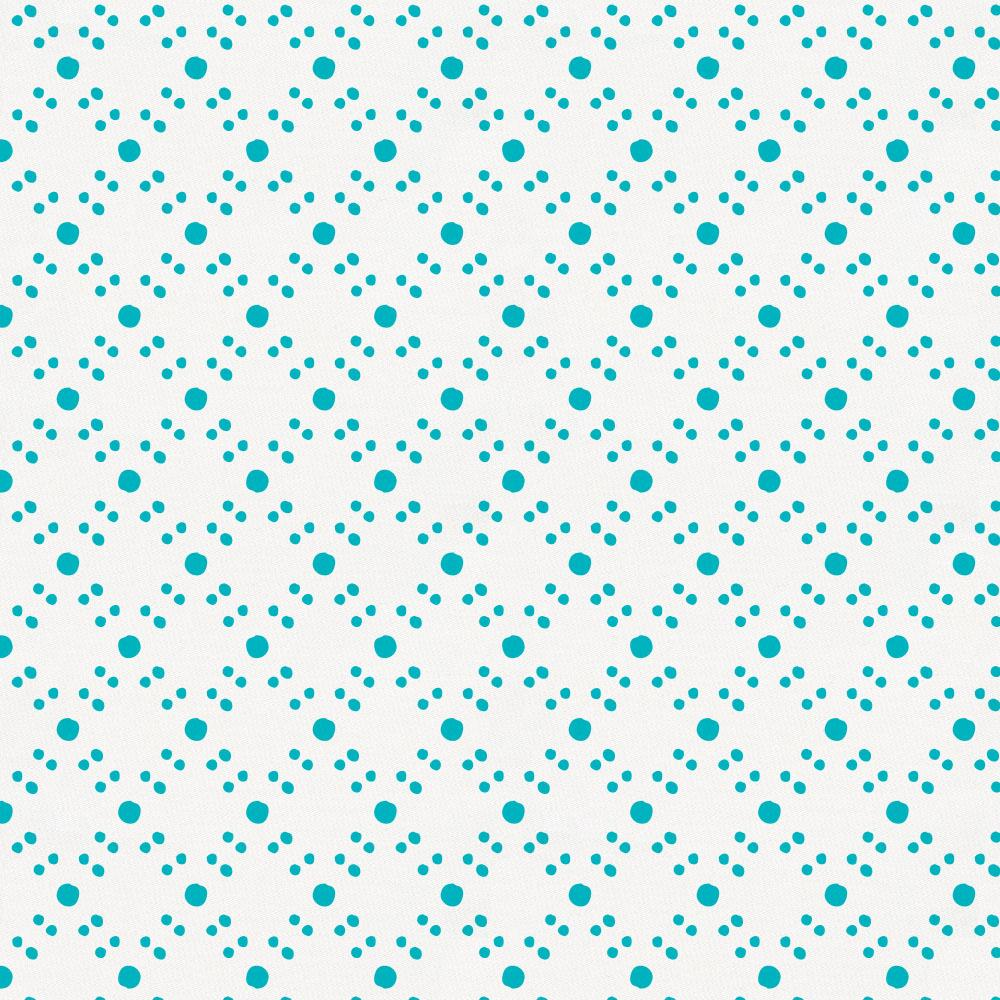 Product image for Teal Lattice Dots Pillow Sham