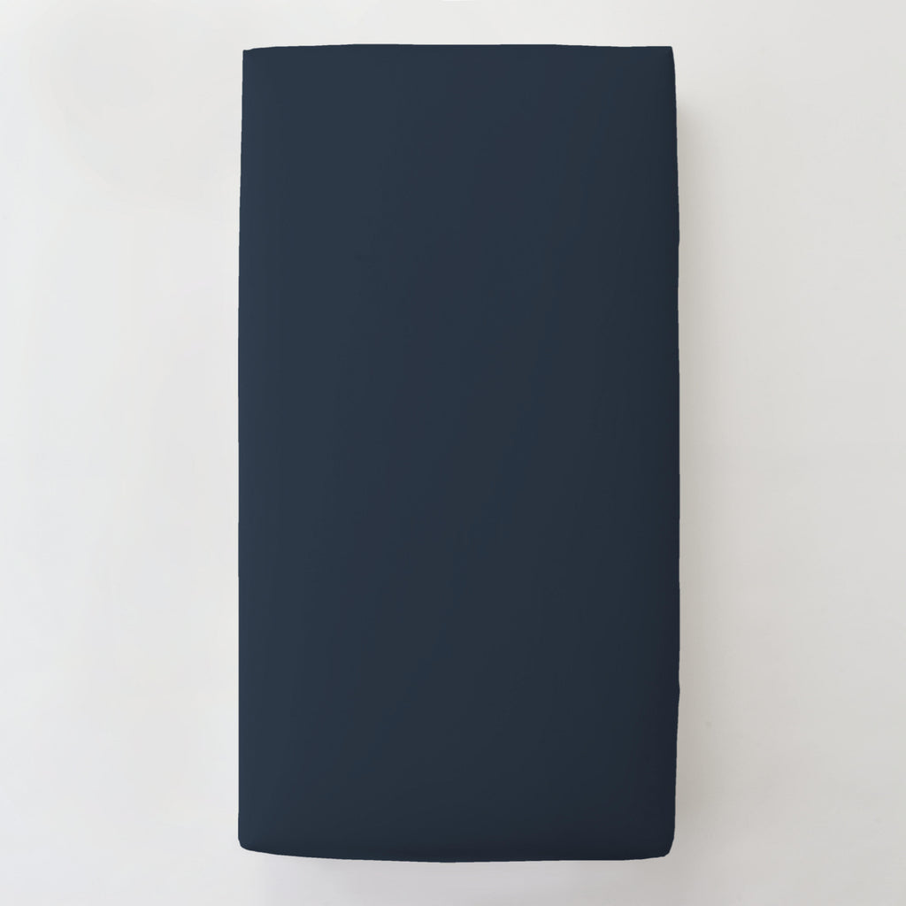 Product image for Solid Navy Toddler Sheet Bottom Fitted