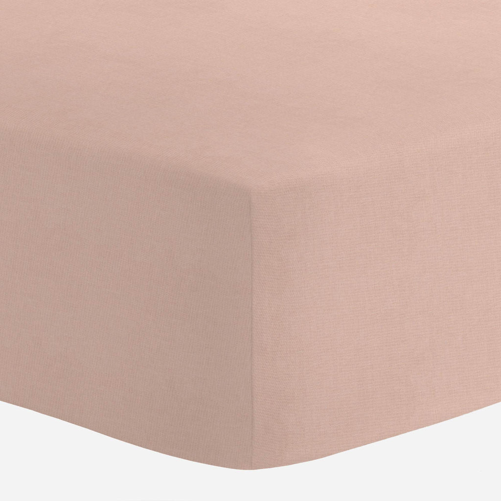 Product image for Solid Peach Mini Crib Sheet