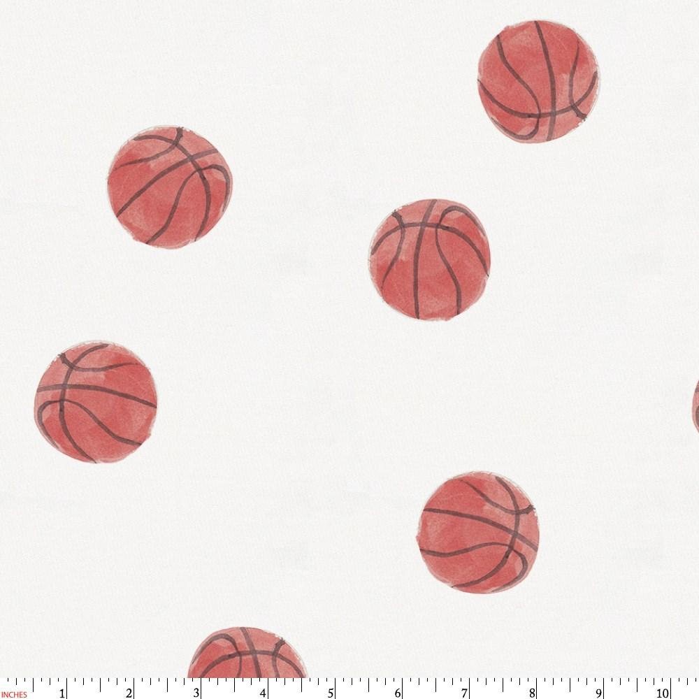 Product image for Watercolor Basketball Fabric