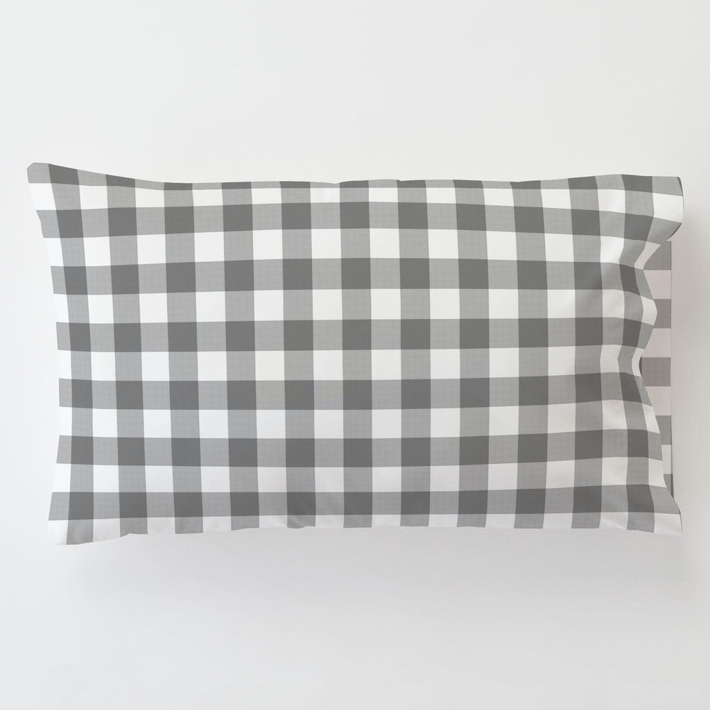 Product image for Gray Gingham Toddler Pillow Case