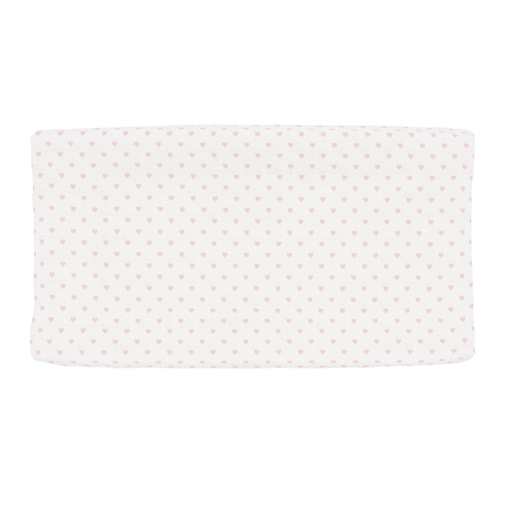 Product image for Pink Hearts Changing Pad Cover