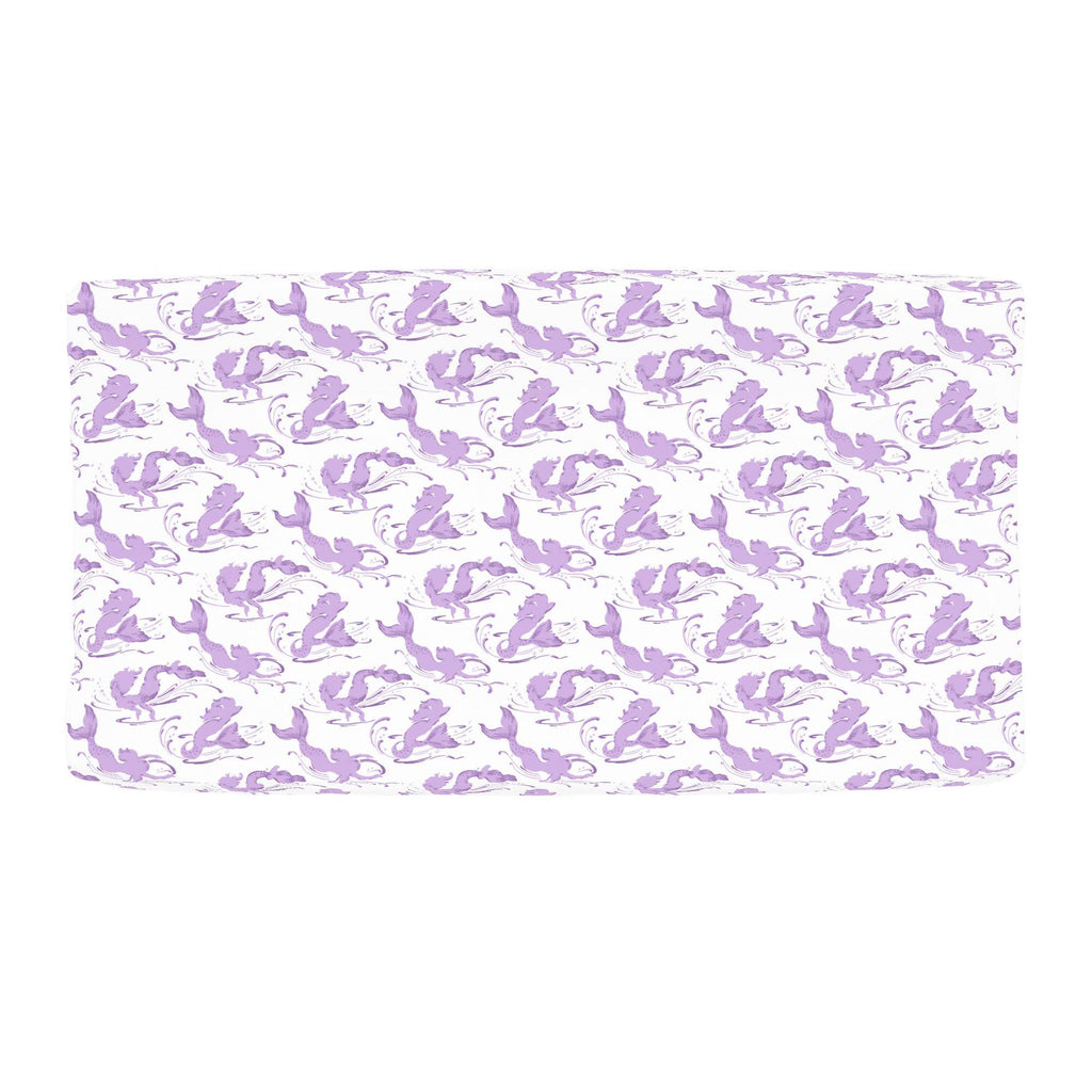 Product image for Purple Swimming Mermaids Changing Pad Cover