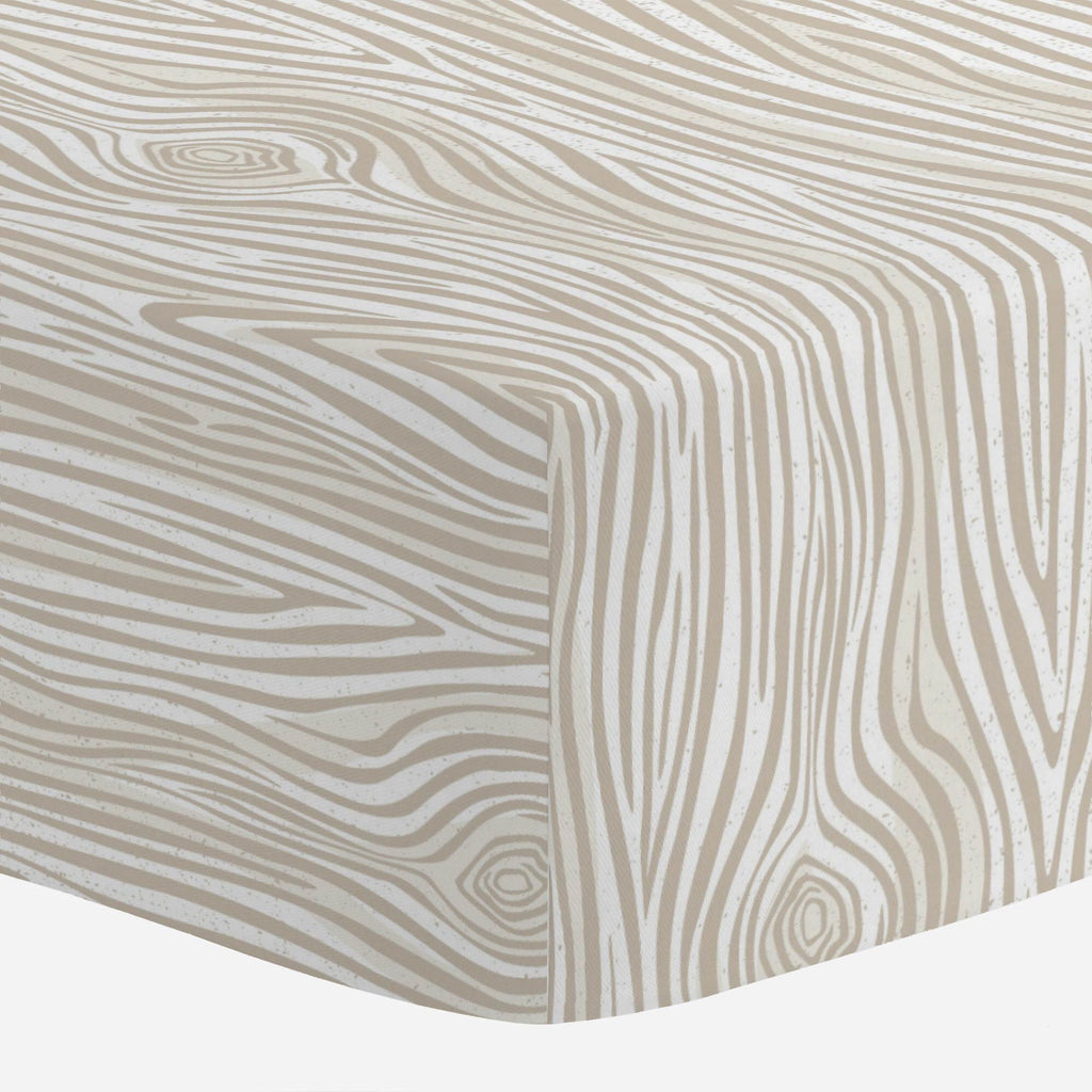Product image for Taupe Woodgrain Mini Crib Sheet