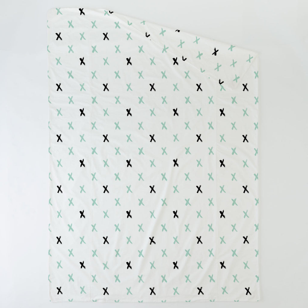 Product image for Mint and Onyx Brush X Duvet Cover