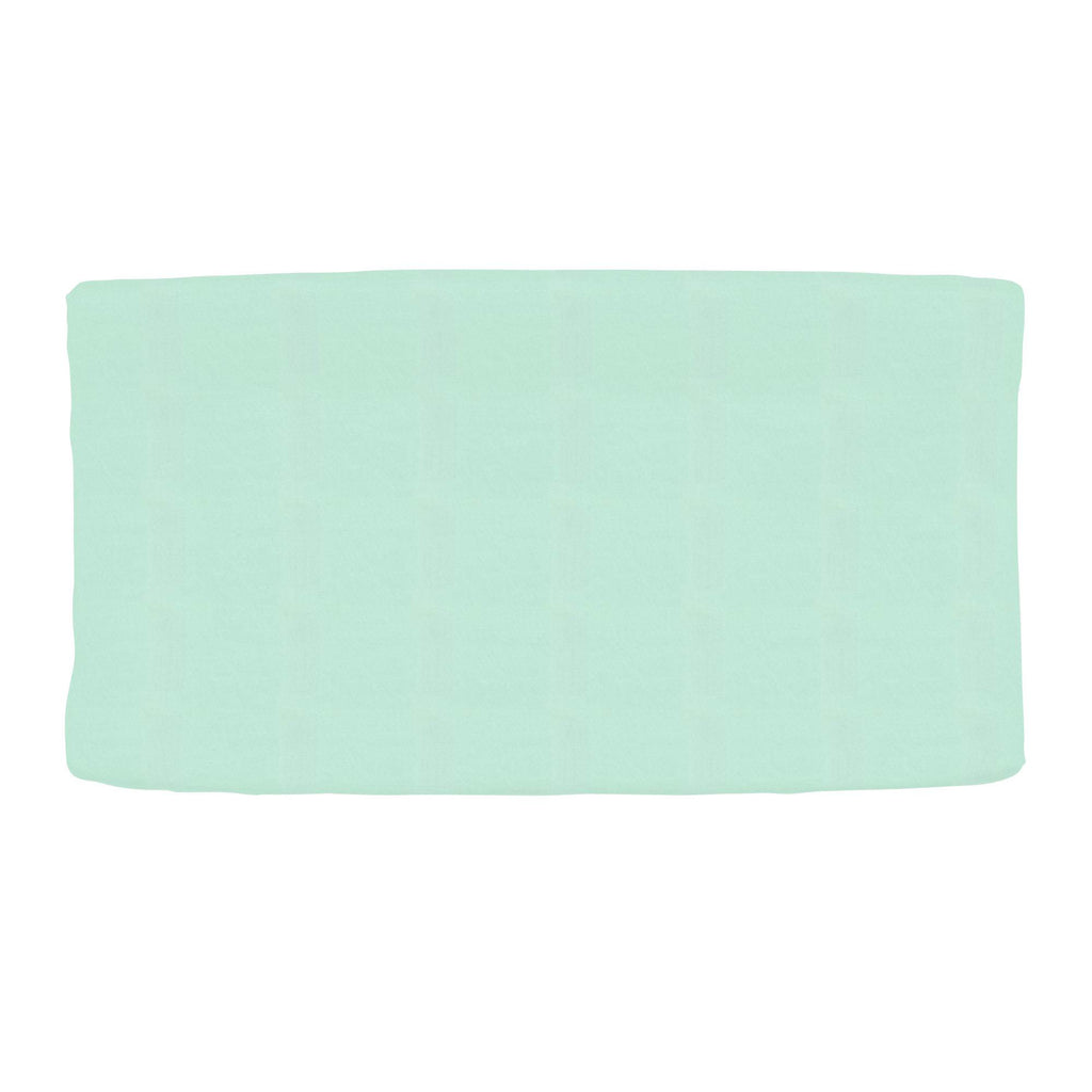 Product image for Solid Mint Changing Pad Cover