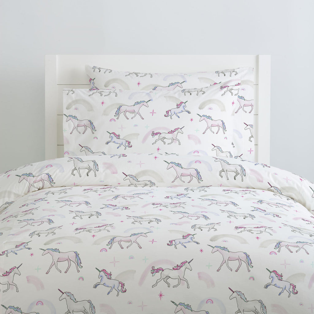 Product image for Watercolor Unicorns Pillow Case