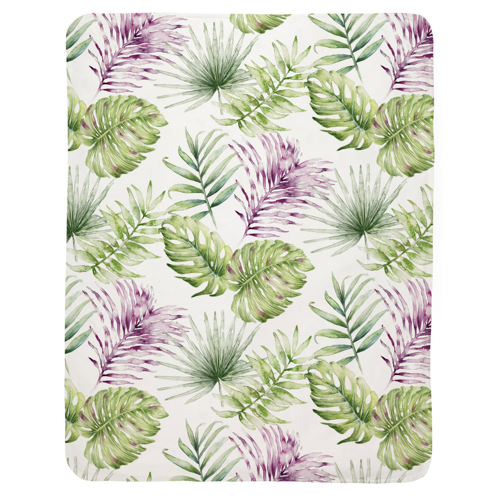 Product image for Purple Painted Tropical Baby Blanket
