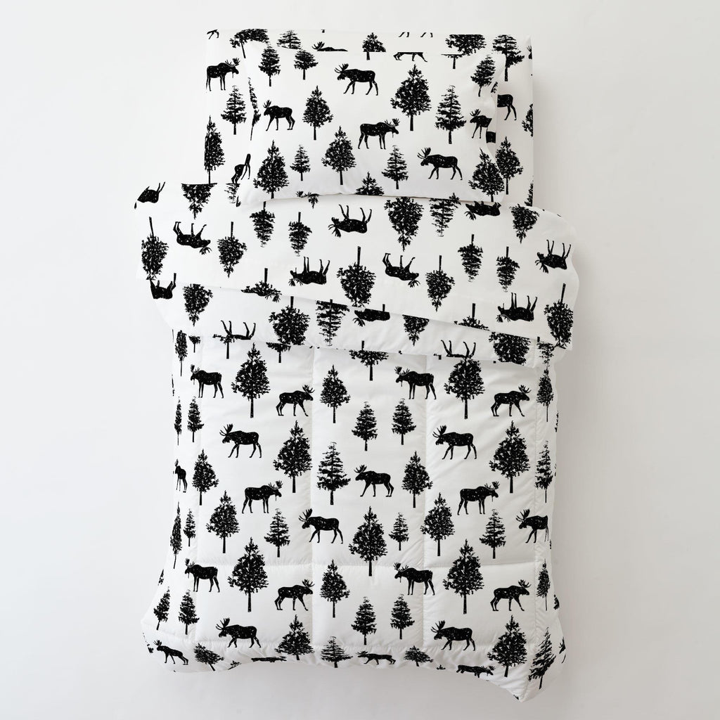 Product image for Onyx Moose Toddler Pillow Case with Pillow Insert
