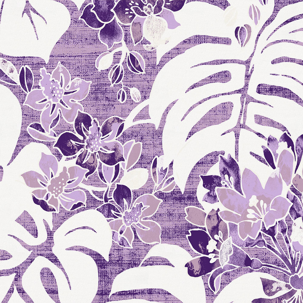 Product image for Purple Tropical Lumbar Pillow