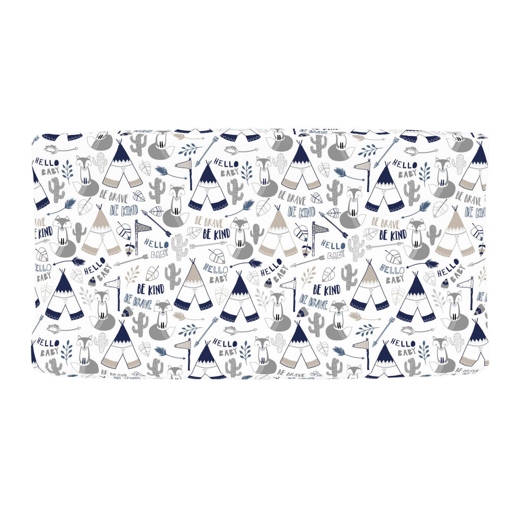 Product image for Navy Brave Fox Changing Pad Cover