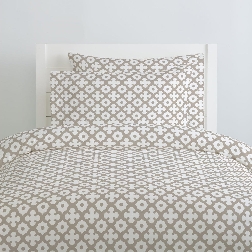 Product image for Taupe Moroccan Tile Pillow Case