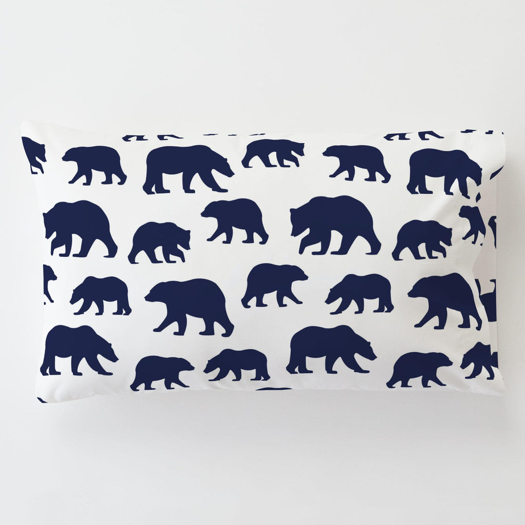 Product image for Navy Bears Toddler Pillow Case