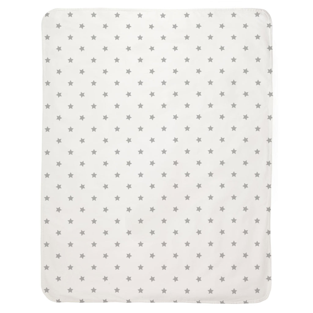 Product image for Silver Gray Stars Baby Blanket
