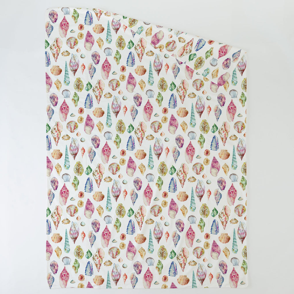Product image for Watercolor Seashells Duvet Cover