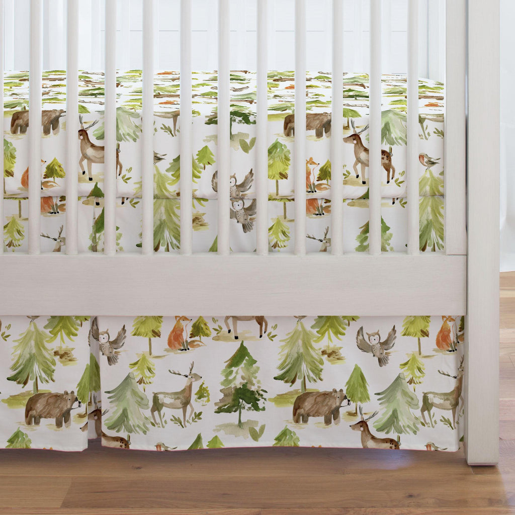 Product image for Painted Forest Crib Skirt Single-Pleat