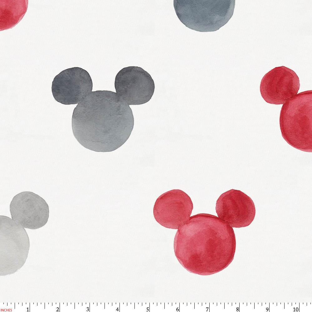 Product image for Disney© Red Watercolor Mickey Ears Fabric