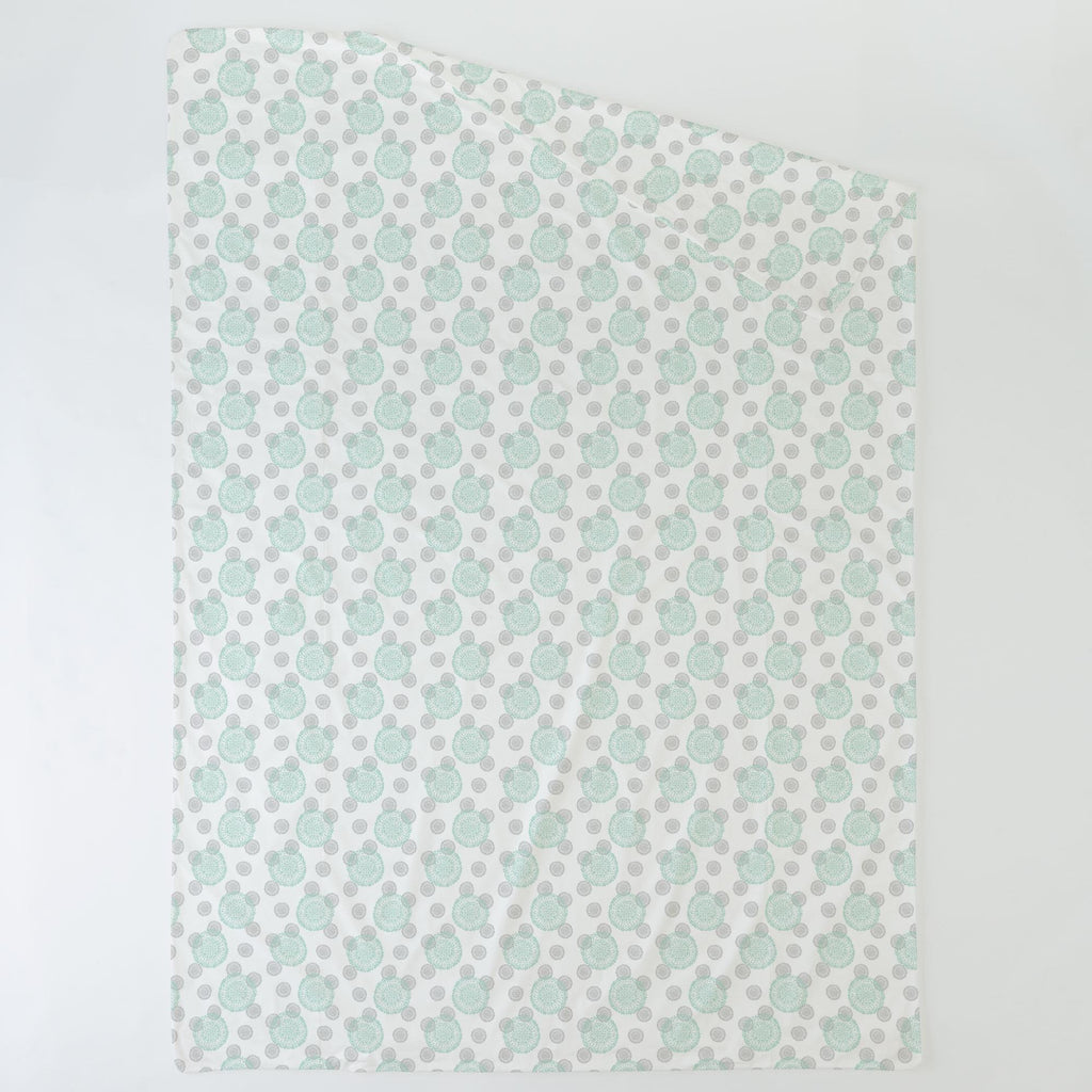 Product image for Mint and Silver Gray Dandelion Duvet Cover