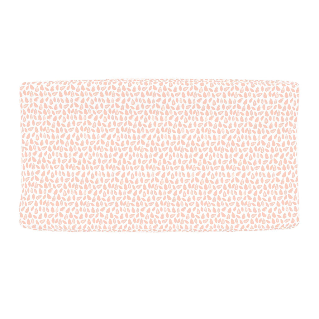 Product image for Peach Woodland Leaf Changing Pad Cover