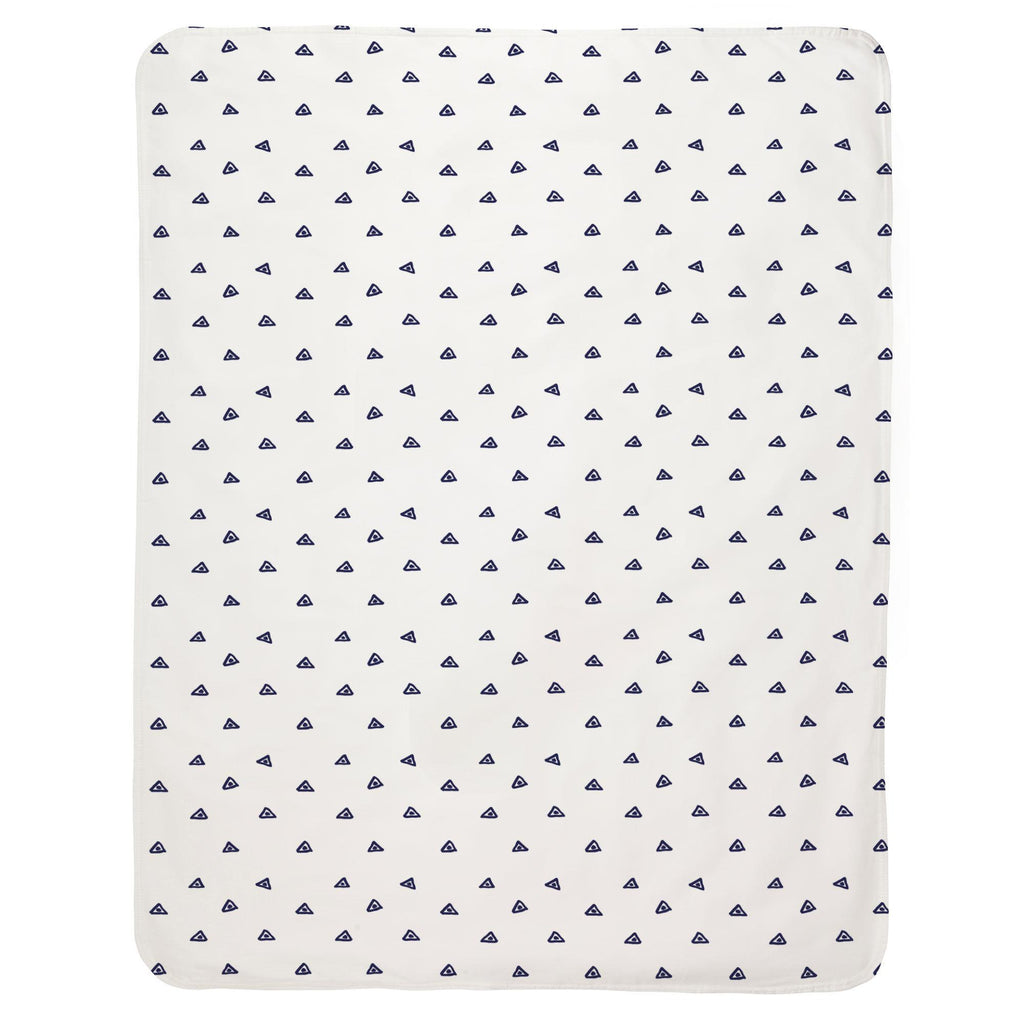 Product image for Navy Triangle Dots Baby Blanket