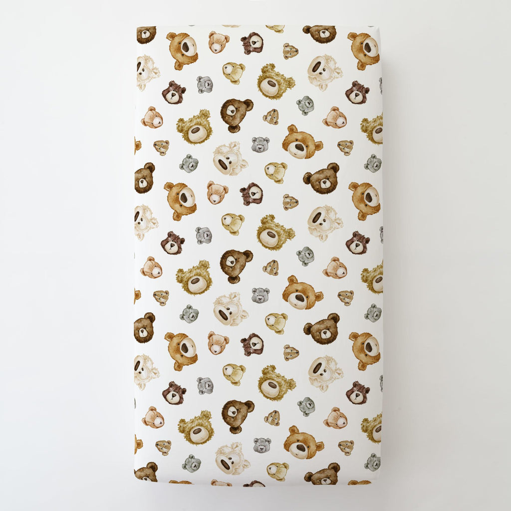 Product image for Teddy Bears Toddler Sheet Bottom Fitted