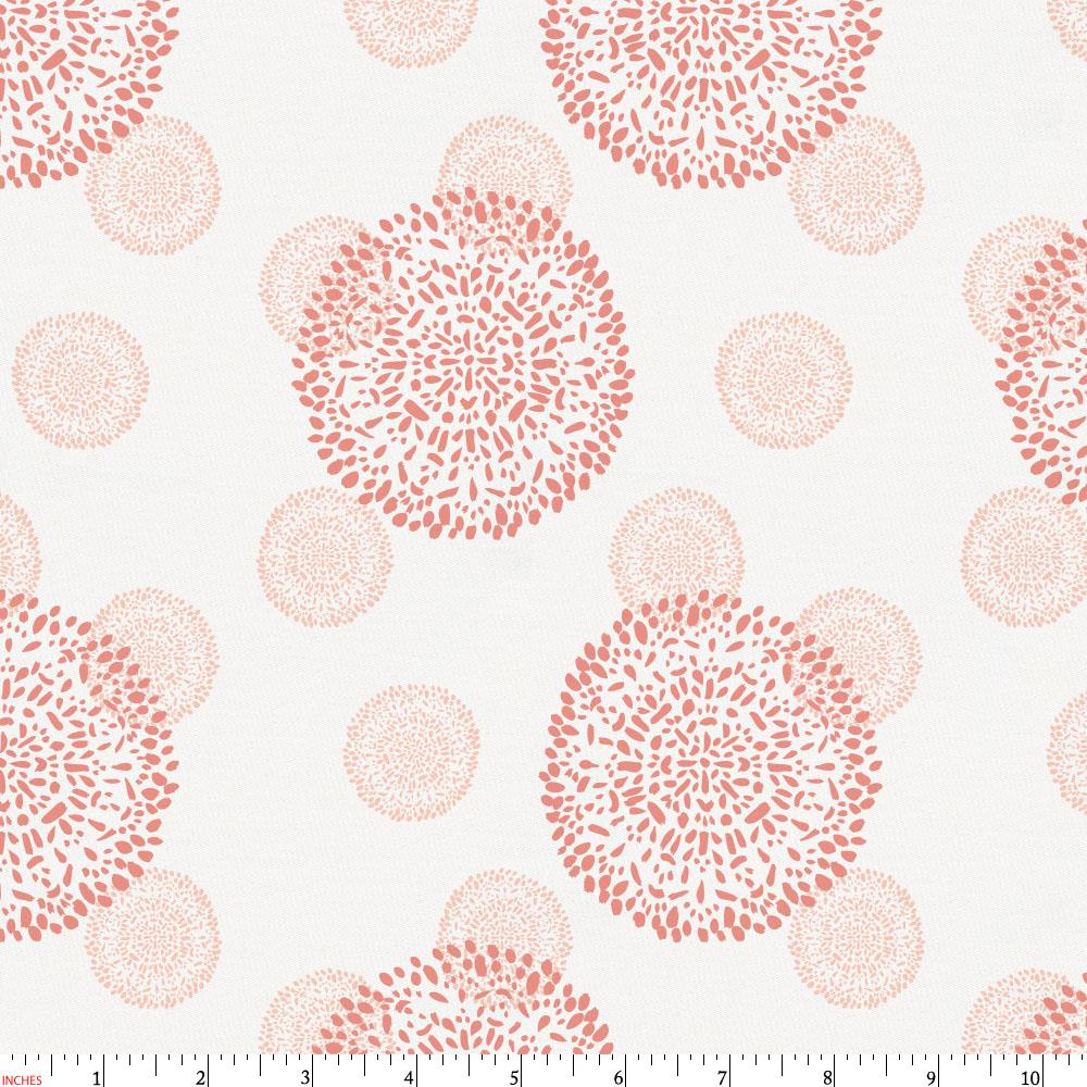 Product image for Light Coral and Peach Dandelion Fabric