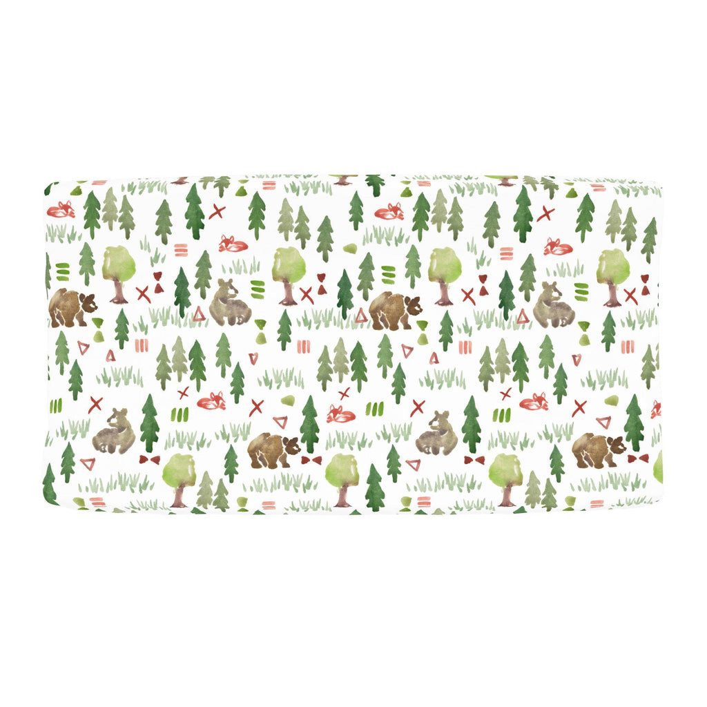 Product image for Watercolor Forest Changing Pad Cover