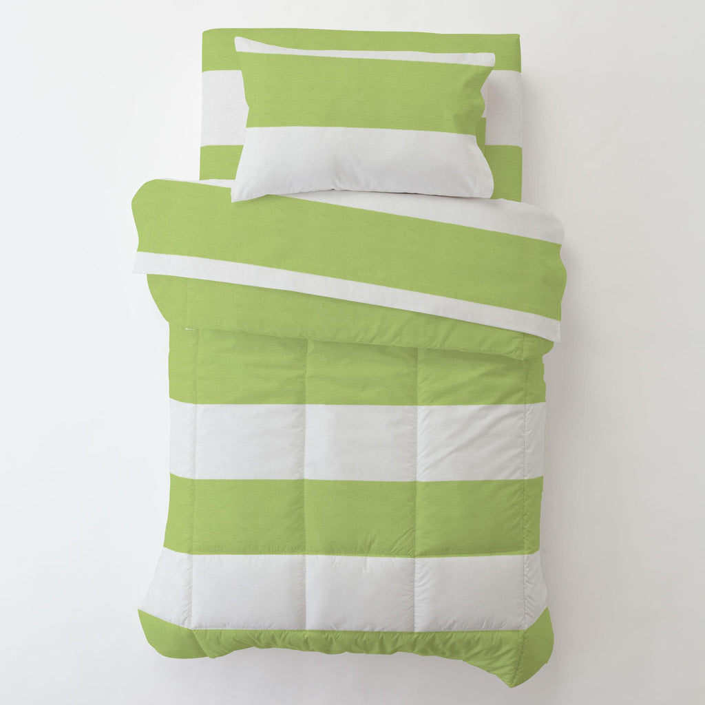 Product image for Kiwi Horizontal Stripe Toddler Comforter