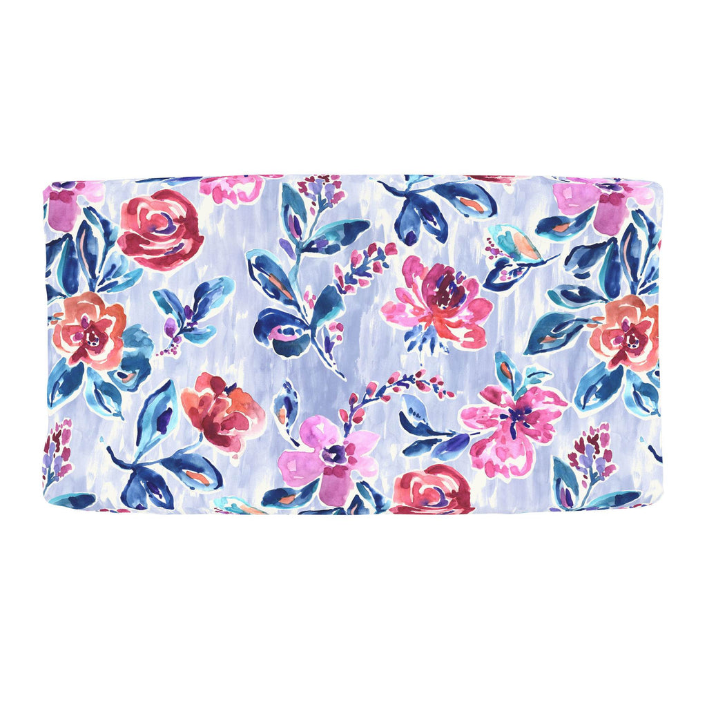 Product image for Pink and Lavender Garden Changing Pad Cover