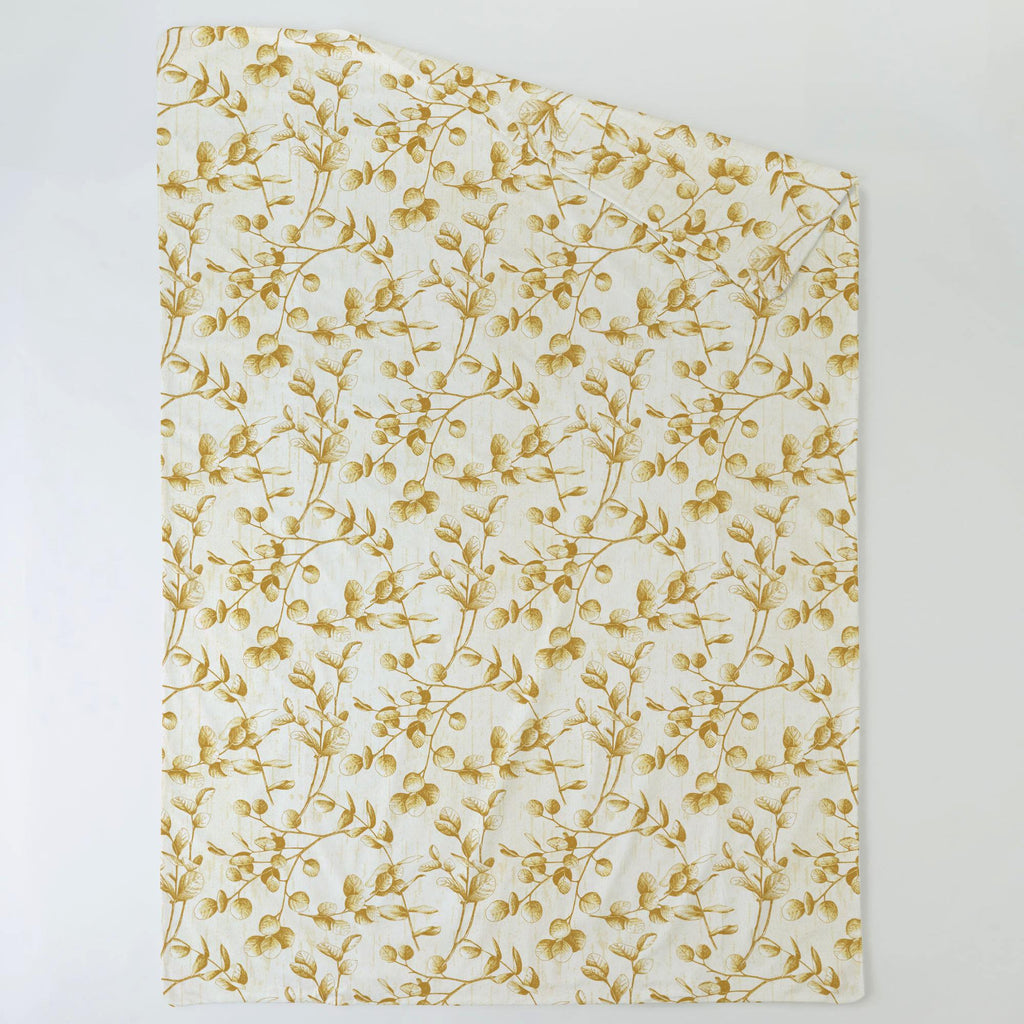 Product image for Mustard Yellow Eucalyptus Duvet Cover